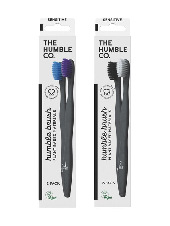 Humble Brush - Humble Tooth Brush Plant based -hammasharja 2 kpl - BLACK   Stockmann - photo 1