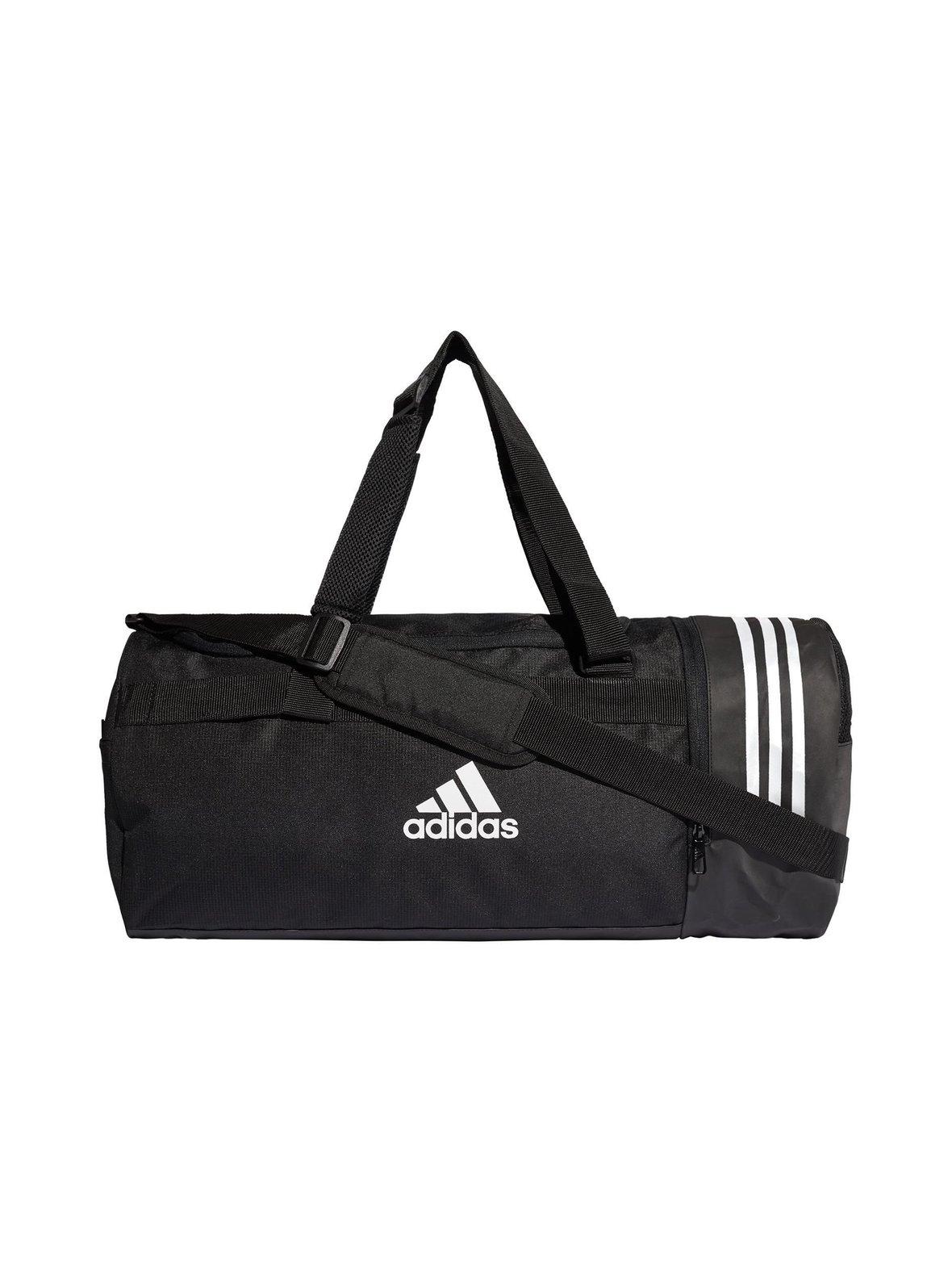 Musta Adidas Performance Convertible 3-Stripes Duffel Medium -laukku ... f3f7c7d4b9