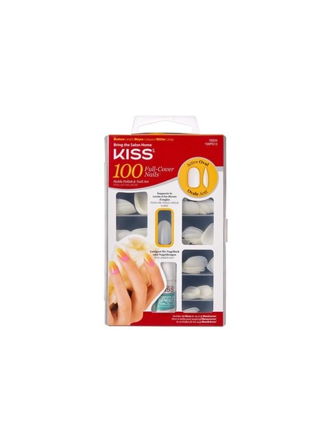 100 Full Cover Nails Active Oval -tekokynsipakkaus