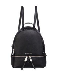 Michael Michael Kors - Rhea Medium Leather Backpack -nahkareppu - 001 BLACK | Stockmann