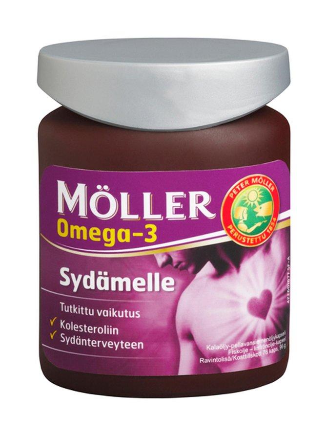 Möller Sydämelle 76 kaps Omega-3 96 g Foolihappo