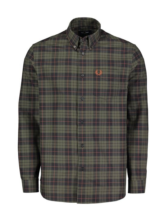 Fred Perry - Brushed Oxford Tartan -paita - 617 FOREST NIGHT | Stockmann - photo 1