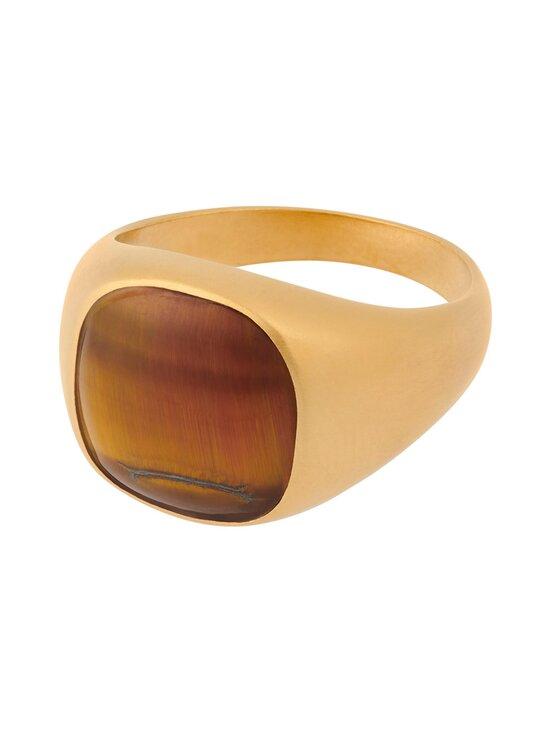 Pernille Corydon - Tiger Eye -sormus - GOLD PLATED SILVER   Stockmann - photo 1