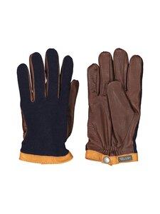 Hestra - Deerskin Wool Tricot -nahkakäsineet - 280770 NAVY / CHOCOLATE | Stockmann