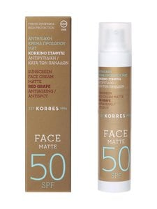 Korres - Red Grape Sunscreen Face Matte SPF50 -voide 50 ml - null | Stockmann
