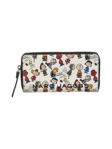 Marc Jacobs - Peanuts® x Marc Jacobs The Standard Continental Wallet -nahkalompakko - WHITE MULTI 101 | Stockmann