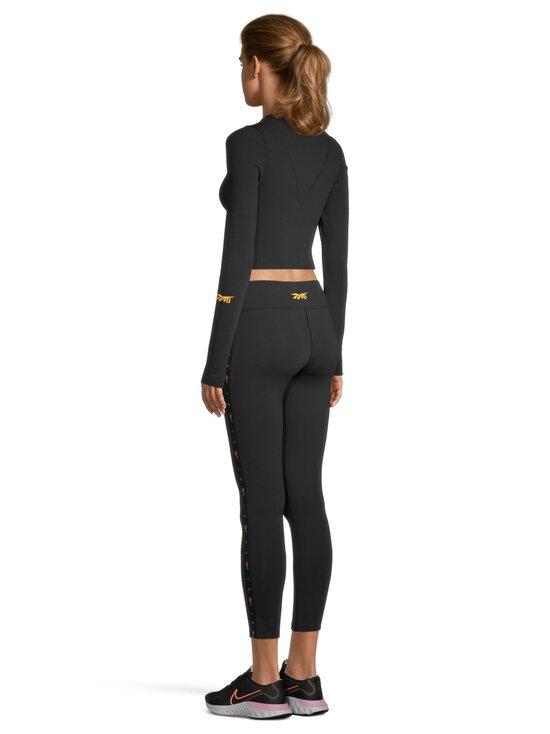 Reebok x Victoria Beckham - VB Logo Long Sleeve Crop Top -paita - BLACK | Stockmann - photo 3