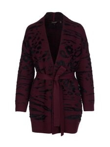 Ted Baker London - Safrohn Jacquard Cardigan -neuletakki - 41 OXBLOOD | Stockmann