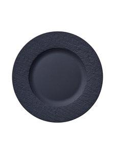 Villeroy & Boch - Manufacture Rock -lautanen 22 cm - BLACK | Stockmann