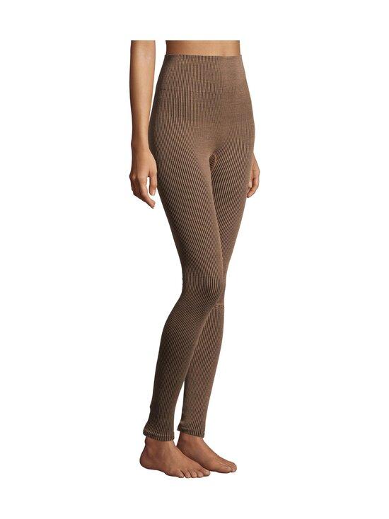 Casall - Wool Rib Tights -leggingsit - 153 BLACK BEIGE RIB | Stockmann - photo 3