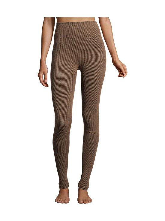 Casall - Wool Rib Tights -leggingsit - 153 BLACK BEIGE RIB | Stockmann - photo 4