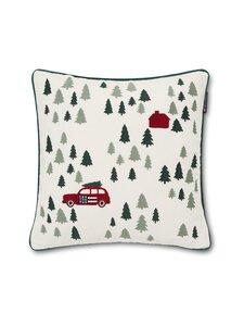 Lexington - Holiday Cotton Velvet Embroidered -tyynynpäällinen 50 x 50 cm - WHITE | Stockmann