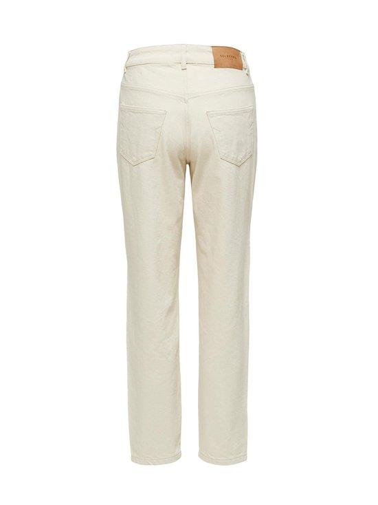 Selected - SlfLou High Waist Slim Tapered -farkut - WHITE DENIM | Stockmann - photo 2