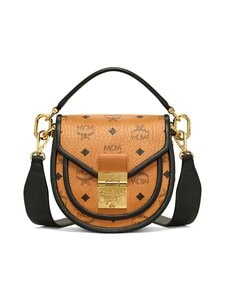 MCM - Mini Patricia Shoulder Bag in Visetos Leather Block -laukku - COGNAC | Stockmann