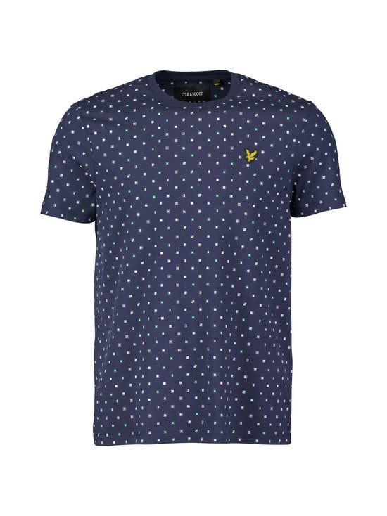 Lyle & Scott - Flag Print -paita - W154 NAVY FLAG PRINT | Stockmann - photo 1