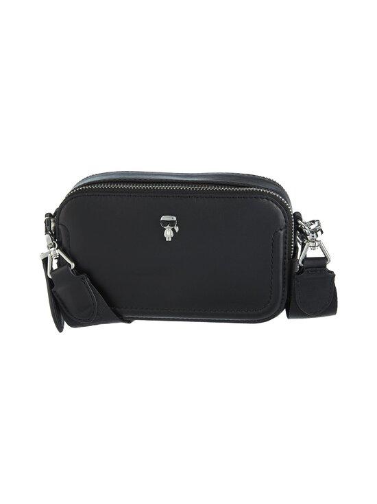 Karl Lagerfeld - K/Ikonik 3D Pin Camera Bag -nahkalaukku - 999 BLACK   Stockmann - photo 1