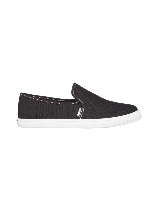 Black Heritage Canvas Contrast Stitching Clemente Slip-On -kengät