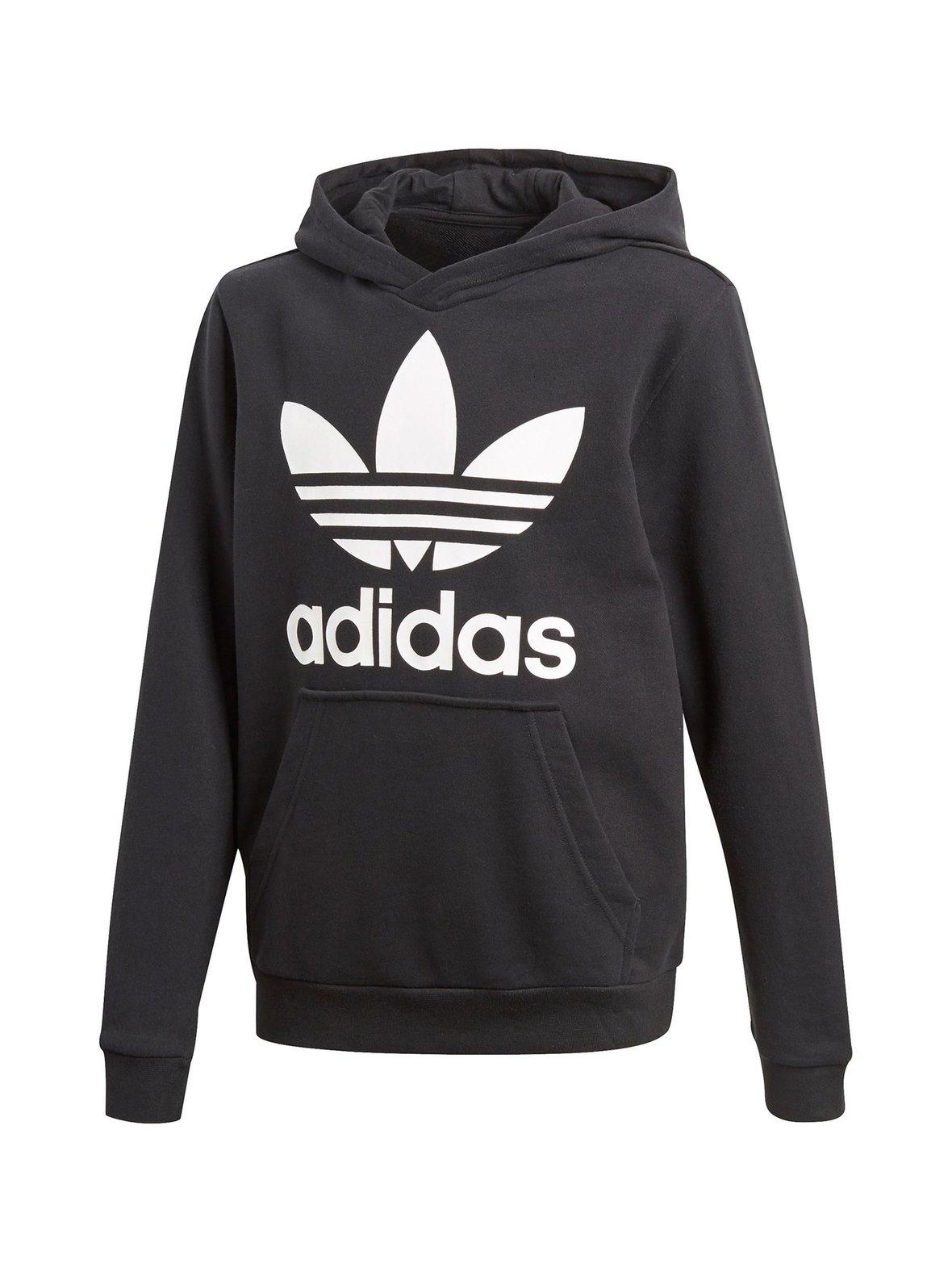 Musta Adidas Originals Trefoil-huppari CD6499  4e5df41737