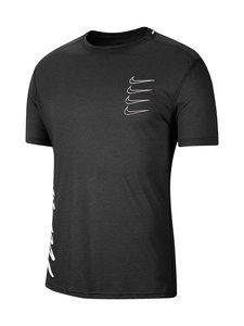 Nike - Short-Sleeve Training Top -paita - BLACK/WHITE/WHITE | Stockmann