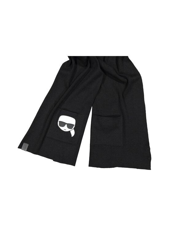 Karl Lagerfeld - K/Ikonik Embroidery Scarf -huivi - 999 BLACK | Stockmann - photo 2