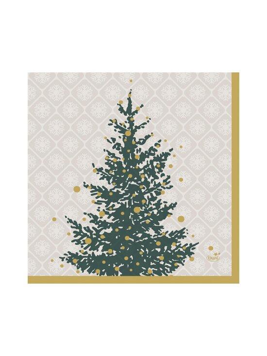 Duni - Trees in Gold -servetti 33 x 33 cm, 20 kpl - WHITE-GREEN | Stockmann - photo 1
