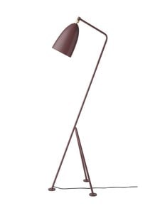 Gubi - Gräshoppa Floor Lamp -lattiavalaisin 125 cm - ANDORRA RED SEMI MATT | Stockmann