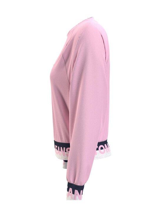 Tommy Jeans - TJW Branded Hem Sweatshirt -collegepaita - TOJ ROMANTIC PINK   Stockmann - photo 4