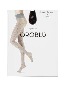 Oroblu - Flower Power 20 den -sukkahousut - BLACK | Stockmann