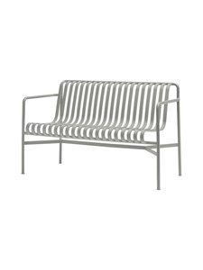HAY - Palissade Dining -penkki selkänojalla 128 x 70 cm - SKY GREY (HARMAA) | Stockmann