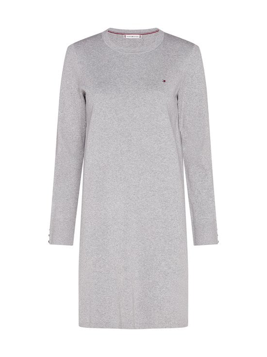 Tommy Hilfiger - Soft Cotton Dress -mekko - PKH LIGHT GREY HEATHER | Stockmann - photo 1