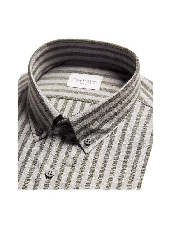 Calvin Klein Menswear - Soft Touch Stripe Slim Fit -kauluspaita - MRZ DARK OLIVE | Stockmann - photo 2