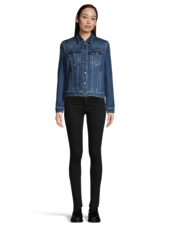 7 For All Mankind - Modern Trucker Luxe Vintage Pacific Grove -farkkutakki - MID BLUE | Stockmann - photo 2