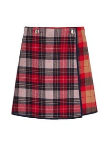 Tommy Hilfiger - Icon Wool Check Mini Skirt -hame - 0QJ RED PATCHWORK CHECK | Stockmann