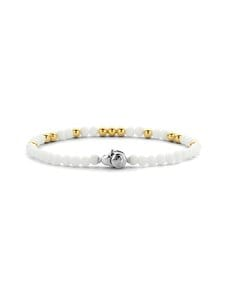 Ti Sento - Rannekoru - WHITE WITH YELLOW GOLD PLATED WY | Stockmann