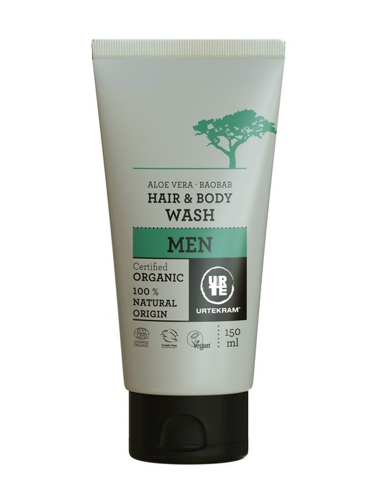 Urtekram - Men Aloe Vera Baobab Hair & Body Wash -hius- ja vartaloshampoo 150 ml - null | Stockmann - photo 1