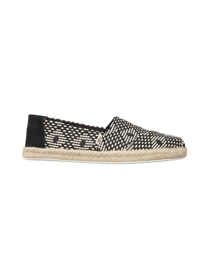 Black Geometric Diamond Woven -espadrillot