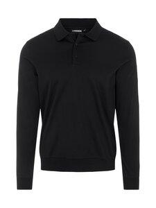 J.Lindeberg - Adam Long Sleeve Polo Sweater -pikeepaita - 9999 BLACK | Stockmann