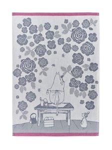 Finlayson - Muumimamman ruusutarha -keittiöpyyhe 50 x 70 cm, 2 kpl - MUSTA/VALKOINEN | Stockmann