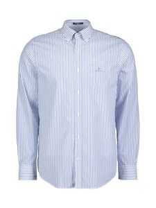 GANT - Regular Fit Stripe Broadcloth -kauluspaita - 416 CLEAR BLUE | Stockmann