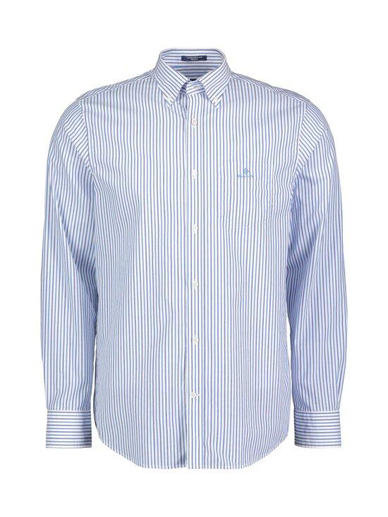 GANT - Regular Fit Stripe Broadcloth -kauluspaita - 416 CLEAR BLUE | Stockmann - photo 1