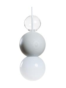 QUU Design - Medium LGG -riippuvalaisin 9,5 x 15,5 cm - LIGHT GREY/GLASS | Stockmann