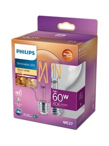 Philips - LED Globe 60W E27 2200-2700K Dimmable -lamppu - WHITE | Stockmann