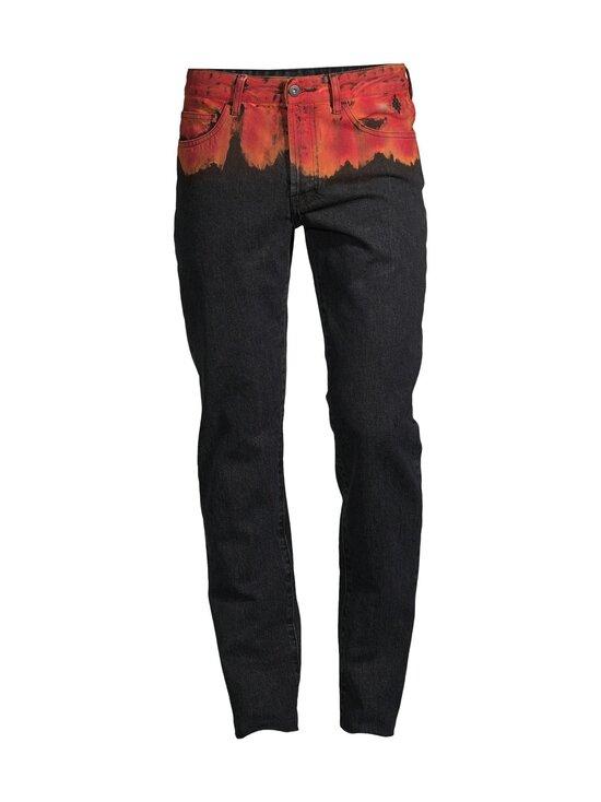 MARCELO BURLON - Bleach Flames Slim Denim -farkut - 1025 BLACK RED   Stockmann - photo 1