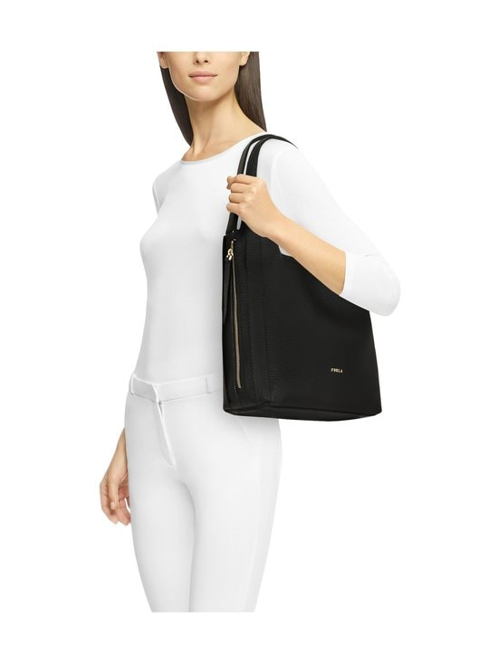 Furla - Grace M Hobo -nahkalaukku - P1900 NERO+TALCO H | Stockmann - photo 4