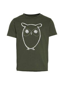 Knowledge Cotton Apparel - Flax Owl Tee -paita - 1090 FORREST NIGHT | Stockmann