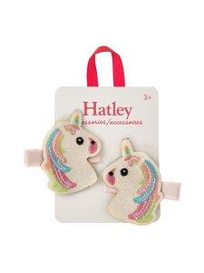 Hatley - Glitzy Unicorns Glitter -hiusklipsi 2 kpl - WHITE | Stockmann