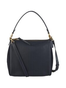 Coach - Shay Mixed Leather Shoulder Bag -nahkalaukku - B4BHP B4/MIDNIGHT NAVY | Stockmann