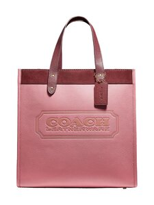 Coach - Field Tote In Colorblock With Coach Badge -nahkalaukku - B4NGU B4/VINTAGE PINK MULTI | Stockmann