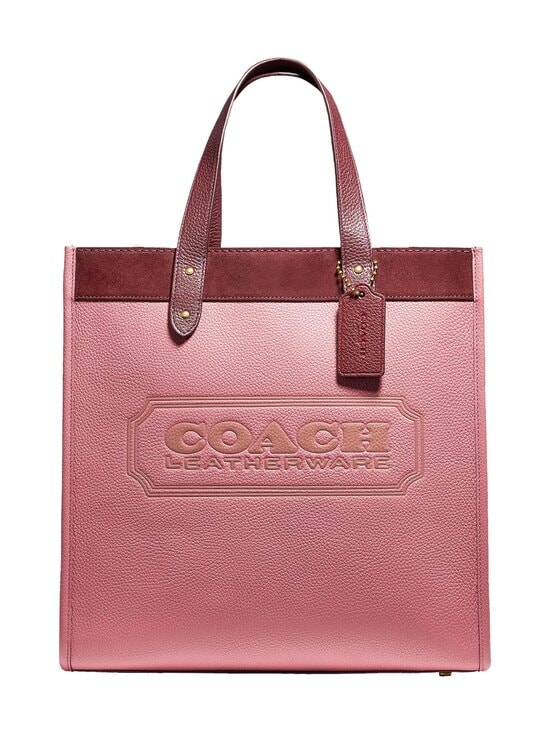 Coach - Field Tote In Colorblock With Coach Badge -nahkalaukku - B4NGU B4/VINTAGE PINK MULTI | Stockmann - photo 1