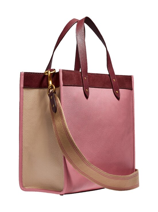 Coach - Field Tote In Colorblock With Coach Badge -nahkalaukku - B4NGU B4/VINTAGE PINK MULTI | Stockmann - photo 2